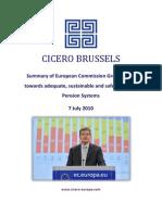 EU Pensions Green Paper Summary Cicero Europe