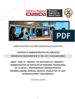 Convocatoria del Gobierno Regional de Cusco.