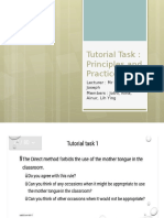 Tutorial Task Principle and Practice