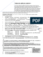 letter of application  directions