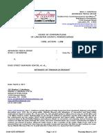 Lancaster County Court Case No. 08-CI-13373 CATERBONE v Duke Street Business Center, et.al., re AFFIDAVIT re ENOUGH IS ENOUGH March 2, 2017