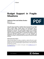Budget Support in Fragile Situations