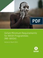 Oxfam Minimum Requirements for WASH Programmes