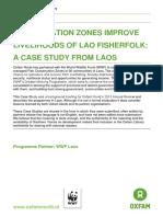 Conservation Zones Improve Livelihoods of Lao Fisherfolk