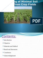 Planning of Minimal Soil Loss From Crop Fields Ppt