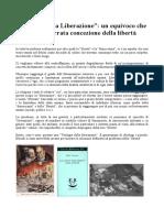 """La """"Festa Della Liberazione"""" Un'Errata Concezione Della Libertà"""