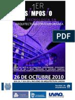 Referencia de EOR 1er Simposio de Tecnología en Arquitectura Contemporánea UMSNH