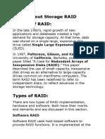 About Storage RAID
