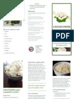 retail mkting wellness brochure cauliflowerrice