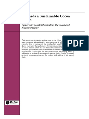 Towards a Sustainable Cocoa Chain: Power and possibilities