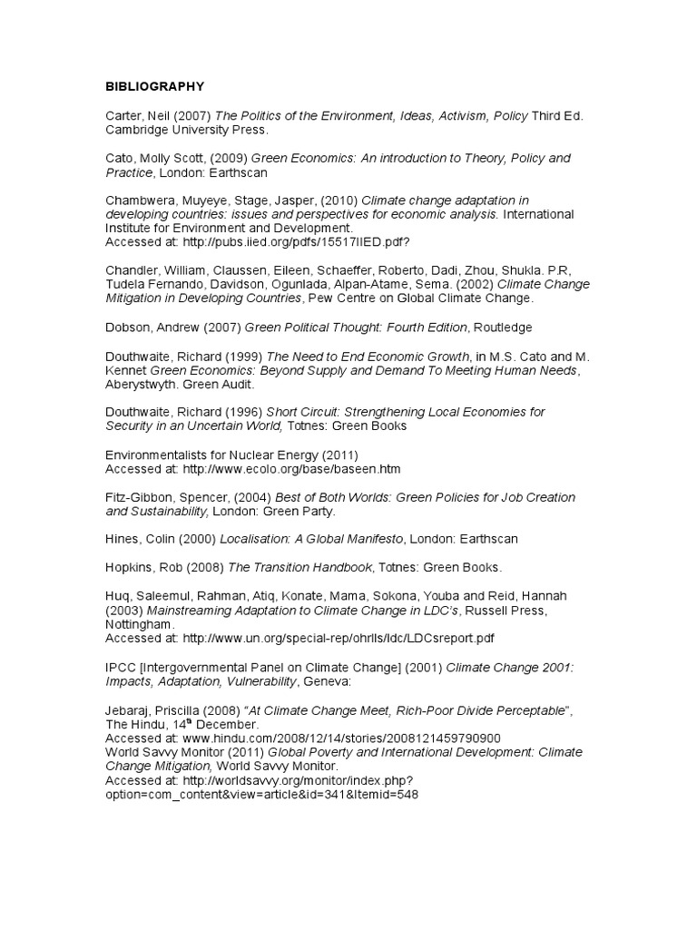 Bibliography environmentalism global warming fandeluxe Images