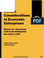 Gender Considerations in Economic Enterprises