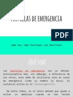 Pastillas de Emergencia