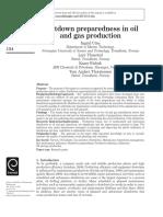 Shutdown Preparedness in Oil