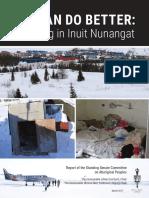 Senate committee report on housing in Inuit Nunangat