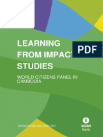 Learning from Impact Studies