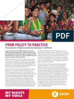 From Policy to Practice