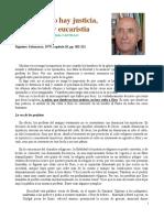 Donde no hay justicia,  no hay eucaristía José María Castillo
