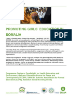 Promoting Girls' Education in Somalia