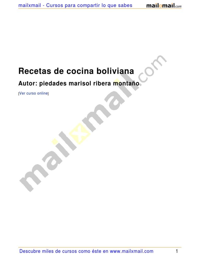 Image Result For Recetas De Cocina Boliviana Pdf