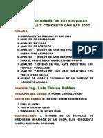 Diseño de Estructuras Con Sap2000 - Feb Mar 2017