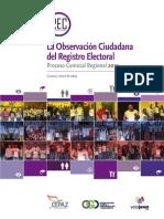 La Observación Ciudadana del Registro Electoral. Informe Final