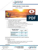 Mecmf0223tour Manabí Natural y Playa Canoa 3 Días 2 Noches
