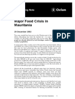 Major Food Crisis in Mauritania