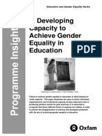 Developing Capacity to Achieve Gender Equality in Education