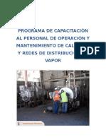 Programa de Capacitación Al Personal de Operación y Mantenimiento de Calderas