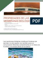 Propiedades de las membranas Biológicas 2