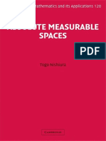 Absolute Measurable Spaces Encyclopedia of Mathematics and Its Applications