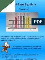 Acid Base Equilibria Ka Common Ion