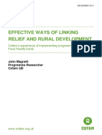 Effective Ways of Linking Relief and Rural Development