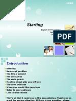 Starting a Presentation