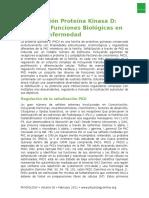 Señalización Proteína Kinasa D Traduccion 666