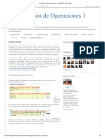 Investigación de Operaciones 1 (IND-331)_ Solver Excel