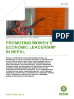 Promoting Women's Economic Leadership In Nepal