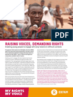 Raising Voices, Demanding Rights