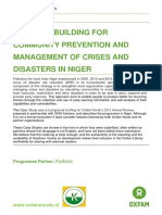 Capacity Building for Community Prevention and Management of Crises and Disasters in Niger