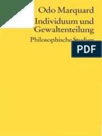 Odo Marquard-Individuum Und Gewaltenteilung. Philosophische Studien-Reclam (2004)