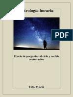 Astrologia Horaria  Tito Macia