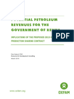 Potential Petroleum Revenues for the Government of Kenya