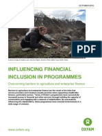 Influencing Financial Inclusion in Programmes