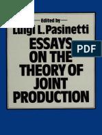 Luigi L. Pasinetti (Eds.)-Essays on the Theory of Joint Production-Palgrave Macmillan UK (1980)