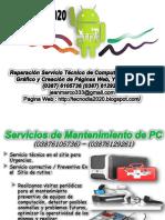 Servicio Técnico Para Computadoras, Notebooks, Netbook Full 2.2