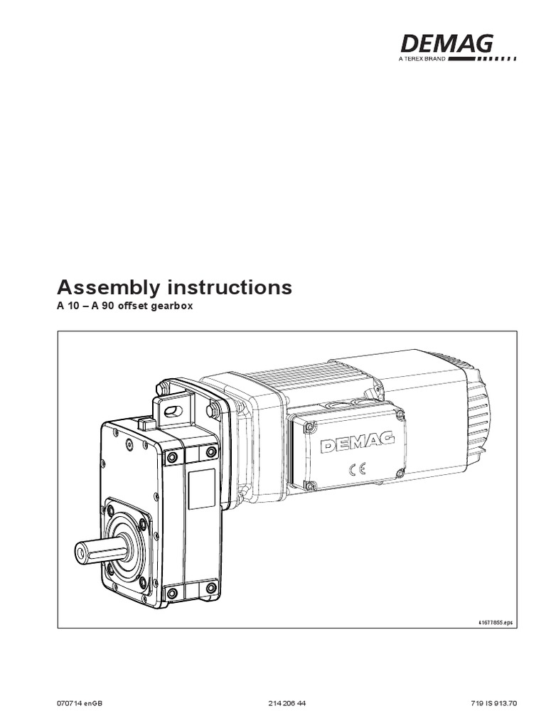 EN - Gear box - Assembly instructions (21420644) pdf | Transmission