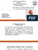 Intoxicación_por_hierro, Acetaminofen, Asa, Antihistaminicos