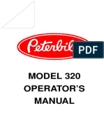 Supplemental Manuals_Peterbilt Model 320 Operator's Manual