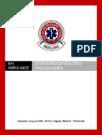 Ambulance Standard Operating Procedures